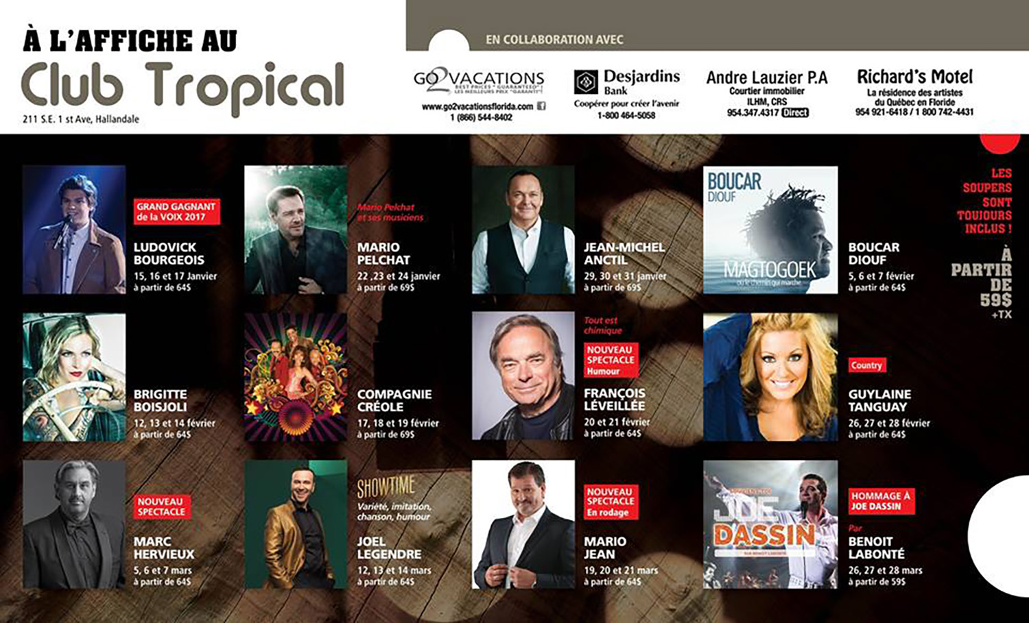 Club Tropical - Programmation 2018